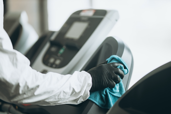 professional disinfection for your gym equipment
